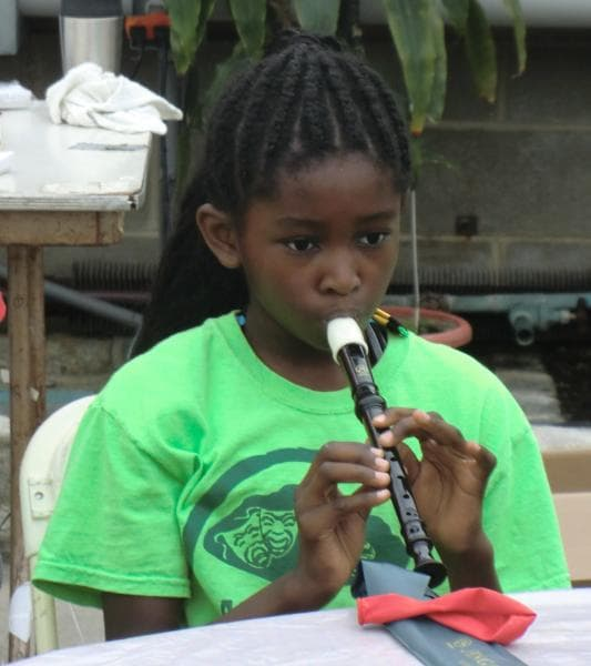 Practicing the Recorder
