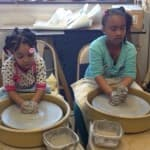 Children Learning the Potters Wheel
