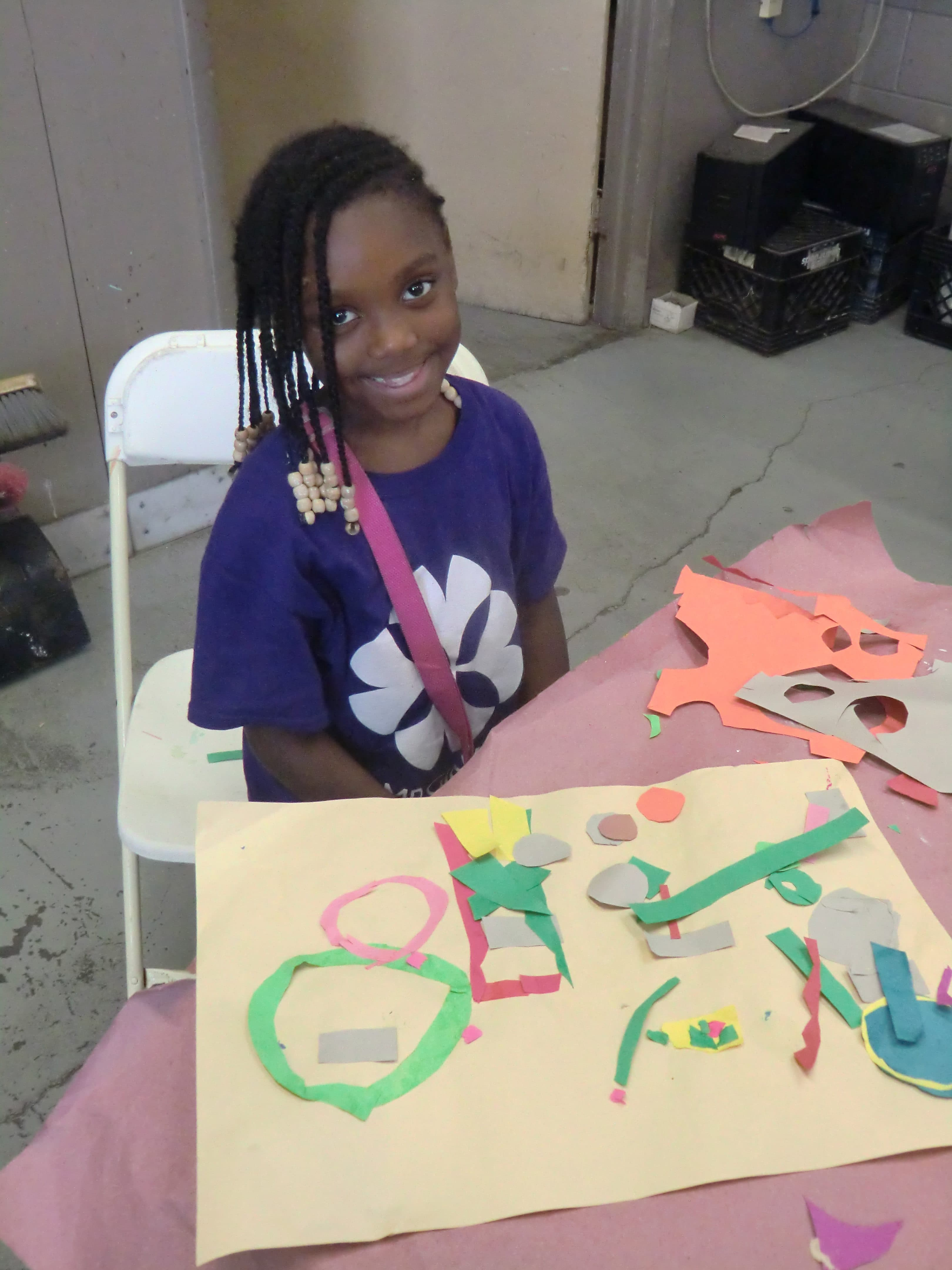 Camp Ginkgo Art Construction and Painting